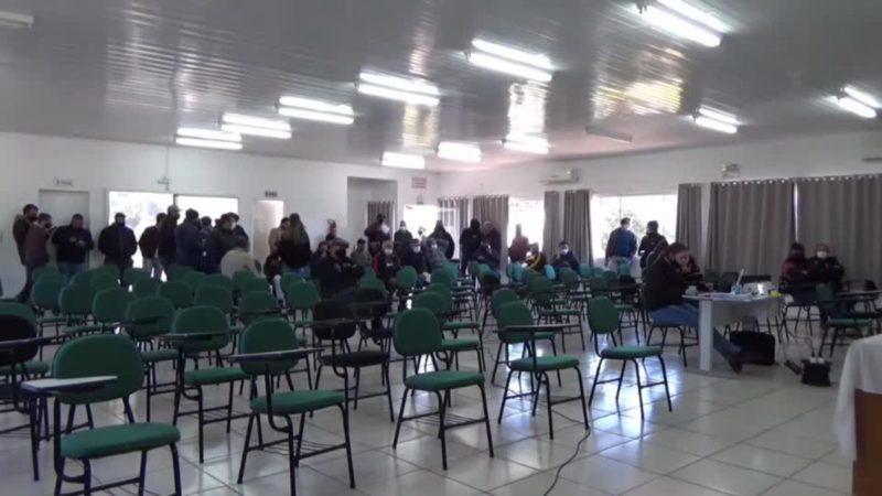 FRAME – Leilão foi transmitido ao vivo no canal do Youtube da prefeitura – Foto: Prefeitura de São João do Oeste/ND