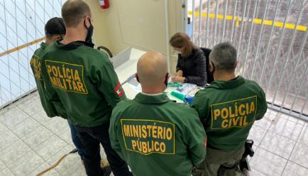 Operação tem organização criminosa como alvo em Joinville – Foto: Gaeco/Divulgação
