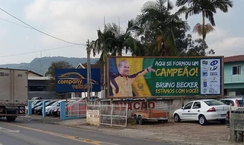 Paratleta recebe o apoio de Rio do Sul, sua cidade natal – Foto: Arquivo Pessoal/Bruno Becker/ND