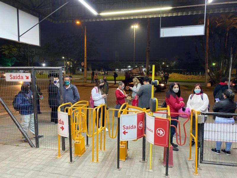 Blumenau ficou sem ônibus no dia 3 de agosto após reunião ser cancelada pela empresa – Foto: Moisés Stuker/NDTV