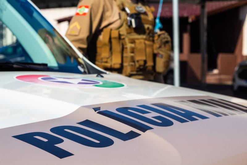 Polícia Militar prendeu o suspeito do estupro – Foto: Arquivo/Bruno Golembiewski/ND