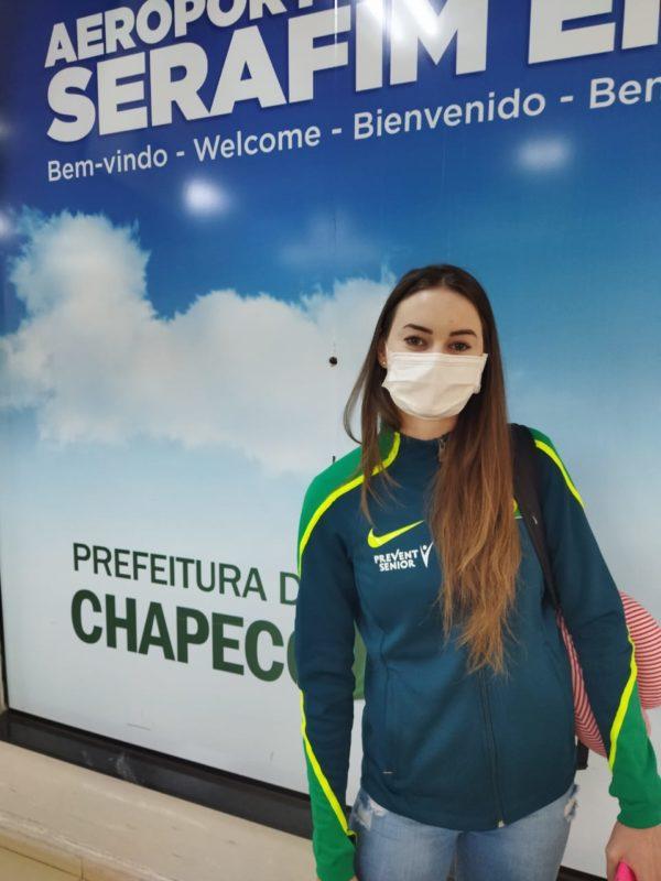 Daniele é a única catarinense da delegação brasileira – Foto: Prefeitura Chapecó/ Divulgação/ND
