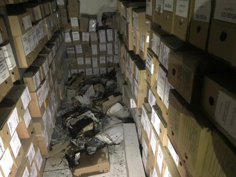 Fogo teria começado em um pequeno depósito. – Foto: Prefeitura de Chapecó/Divulgação/ND