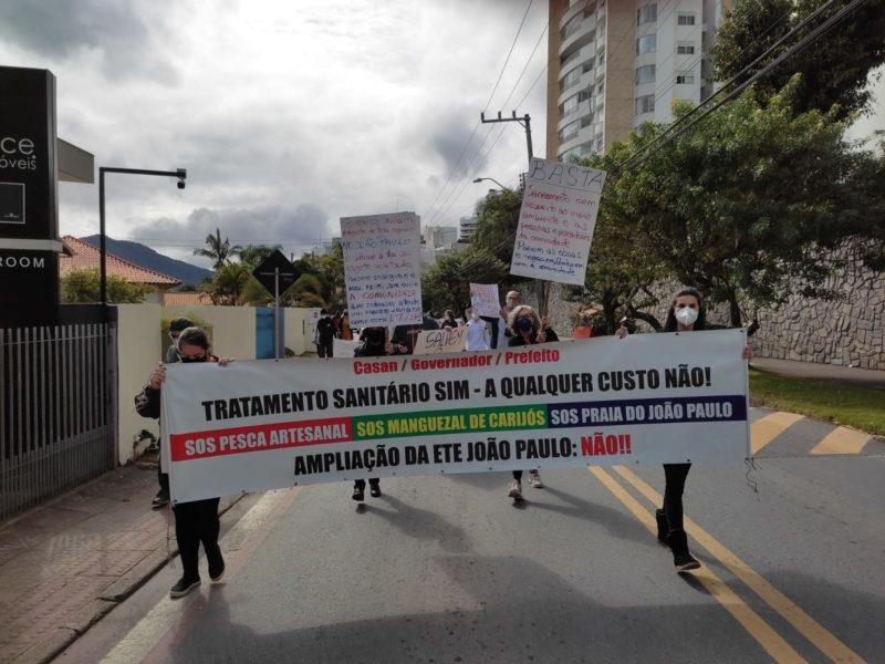 Moradores dos bairros João Paulo e Saco Grande protestam contra ETE – Foto: Divulgação/APPAAJOP