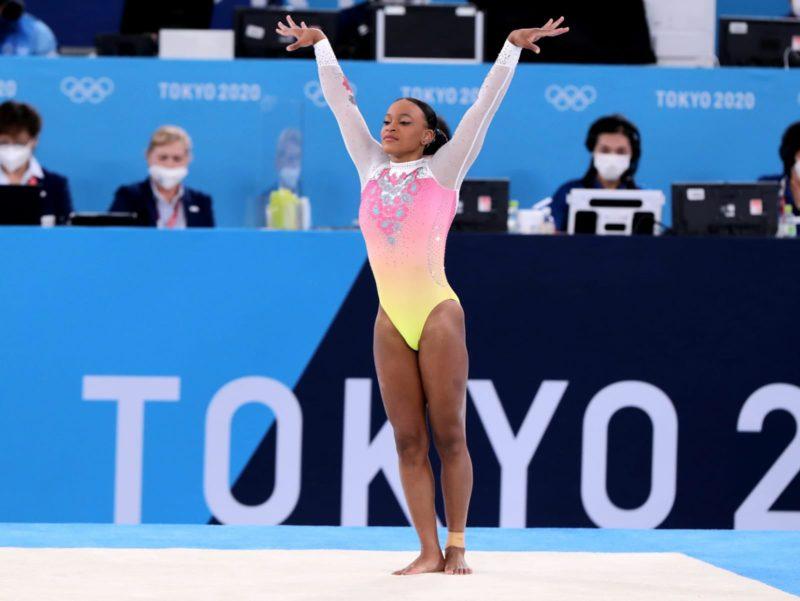 Rebeca Andrade ficou com o quinto lugar no solo – Foto: Ricardo Bufolin/CBG