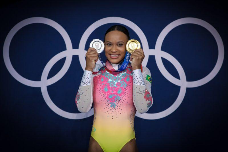 Rebeca Andrade conquistou um ouro e uma prata na ginástica – Foto: Ricardo Bufolin/ CBG