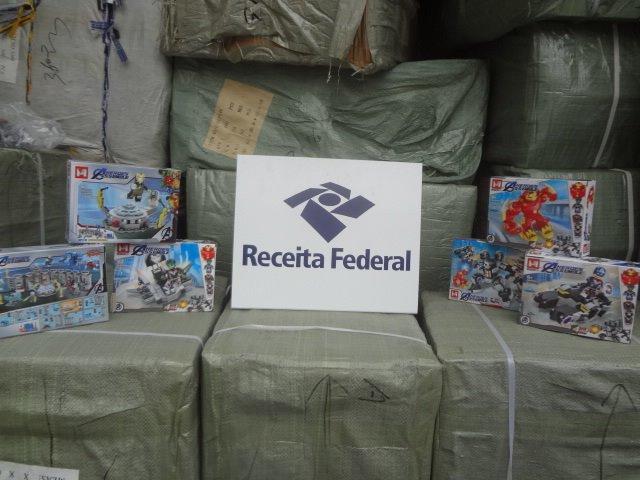 Brinquedos são avaliados em R$ 1,8 milhão – Foto: Receita Federal/Divulgação