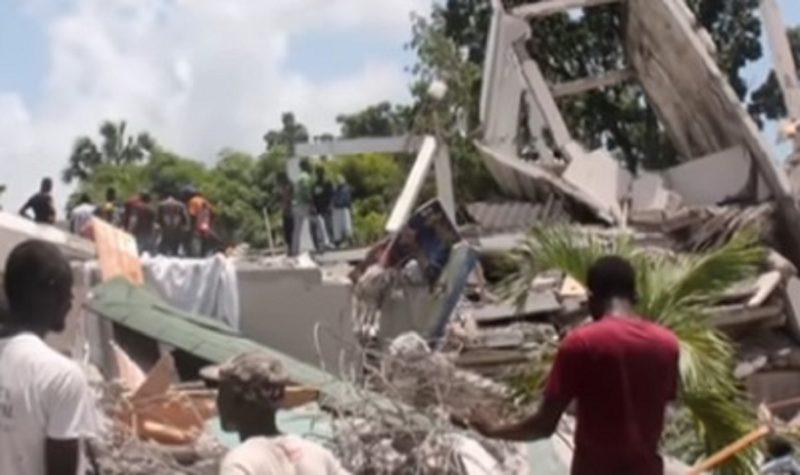 Haiti sofreu com um terremoto de magnitude 7,2 no último sábado (14) – Foto: Reprodução/ Youtube