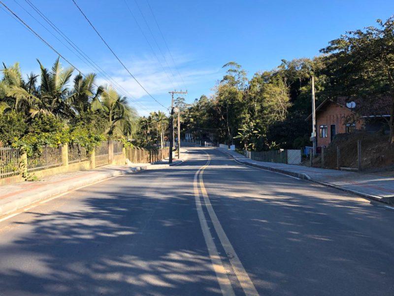 Ladrão desistiu de assalto após ser reconhecido pela vítima na rua Palotina (foto acima), em Indaial – Foto: Divulgação/Prefeitura de Indaial