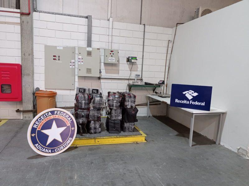 Receita Federal realiza a apreensão de 350 kg de cocaína no Porto de Itapoá – Foto: Receita Federal/Divulgação ND