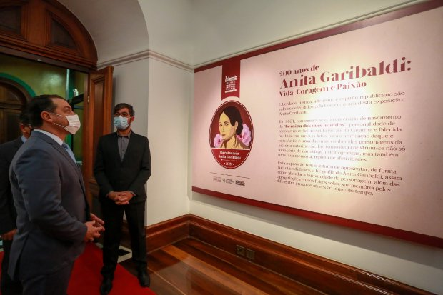 Evento em homenagem a Anita Garibaldi foi aberto nesta quarta-feira (11) – Foto: Julio Cavalheiro/Secom/Divulgação/ND
