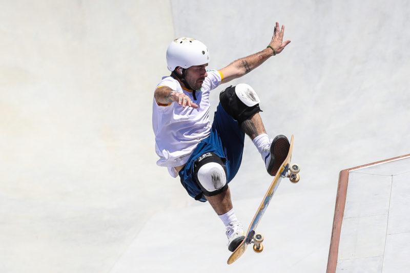 """<a href=""""https://ndmais.com.br/?s=Pedro+Barros"""" target=""""_blank"""" rel=""""noopener noreferrer"""">Pedro Barros</a> ficou com a segunda melhor nota e levou a prata para o Brasil; mais uma medalha no skate &#8211; Foto: Gaspar Nóbrega/COB/ND"""