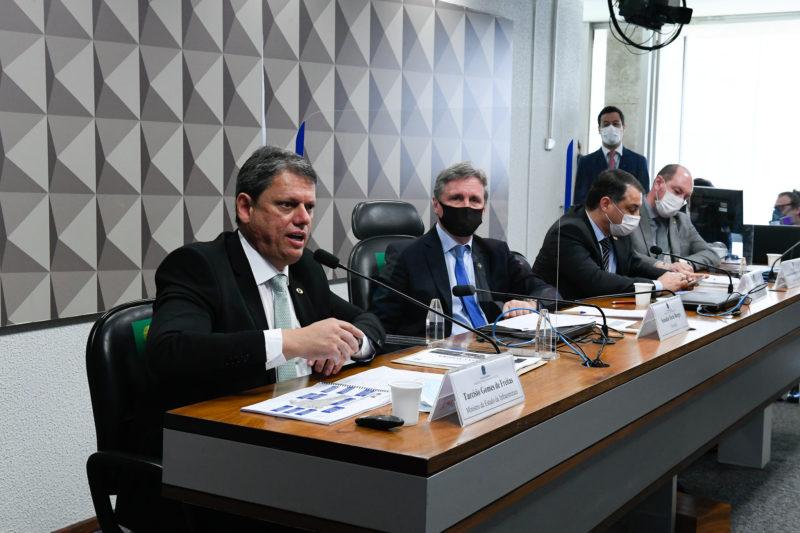 Ministro da Infraestrutura, Tarcísio Gomes de Freitas, em audiência com a bancada catarinense – Foto: Roque de Sá/Agência Senado/ND