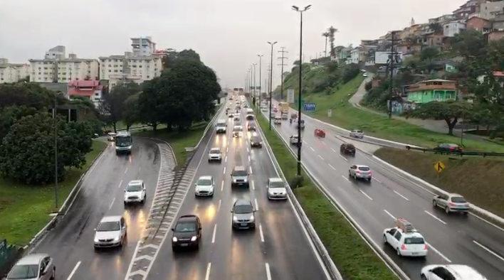 Engavetamento provoca lentidão nesta quinta-feira (5) – Foto: GMF/Divulgação/ND