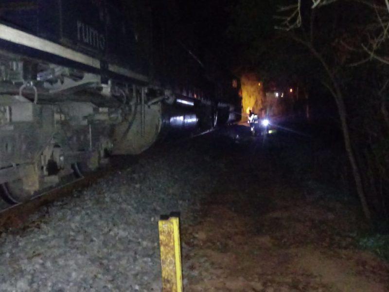 Homem teve pernas amputadas após acidente com trem em Mafra – Foto: 9BBM/Divulgação