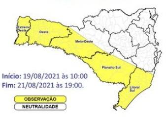 Baixa umidade do ar – Foto: Defesa Civil de SC/Divulgação/ND