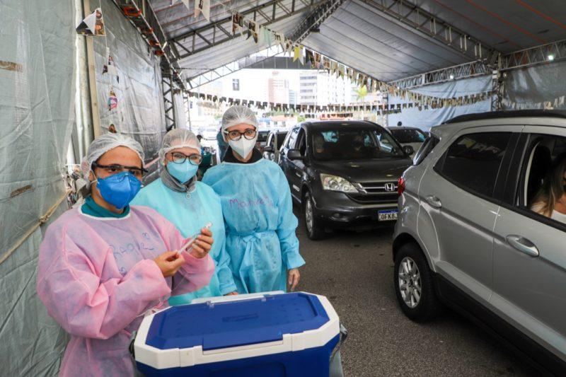 Vacinação segue nesta terça-feira (10) – Foto: Cristiano Andujar/PMF/Divulgação/ND