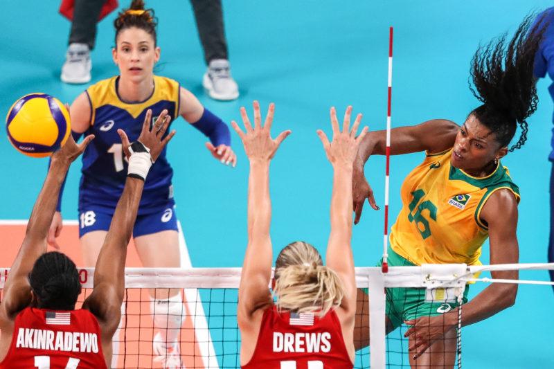 Brasil perdeu para os Estados Unidos na final do vôlei feminino – Foto: Wander Roberto/COB/ND