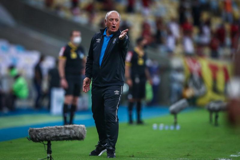 Felipão ficou satisfeito com a atuação do Grêmio