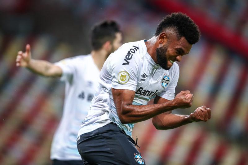 Borja comemora o gol que deu ao Grêmio uma vitória importantíssima no Brasileirão - Foto: Lucas Uebel/Gremio FBPA