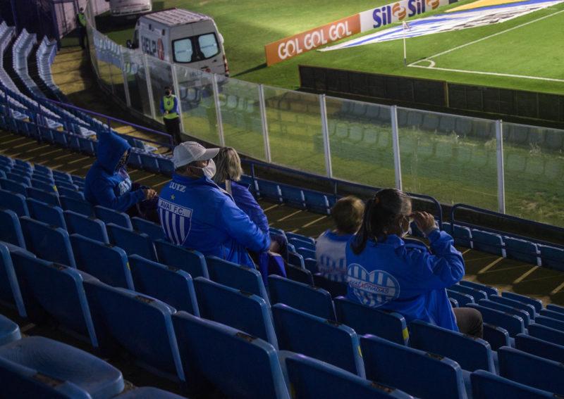 Vitória diante do Goiás contou com o apoio de mais de 400 torcedores Azurra – Foto: Laysa Silva/Avaí/ND