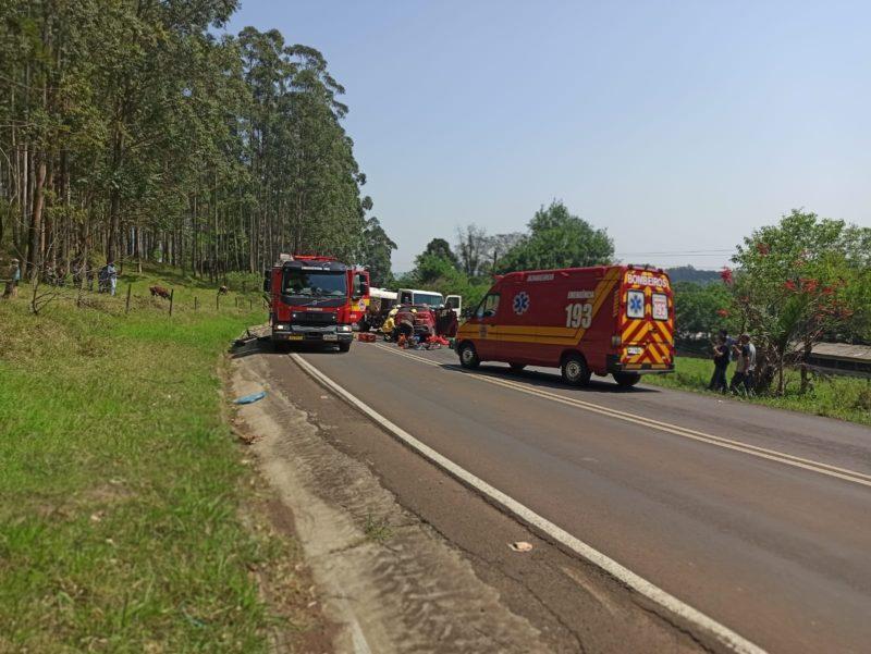 Acidente ocorreu em uma curva da SC-157 – Foto: Polícia Civil/ND