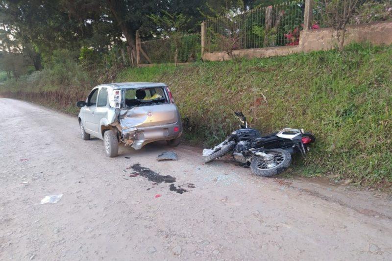 Homem não resistiu após bater na traseira do carro – Foto: 9BBM/Divulgação