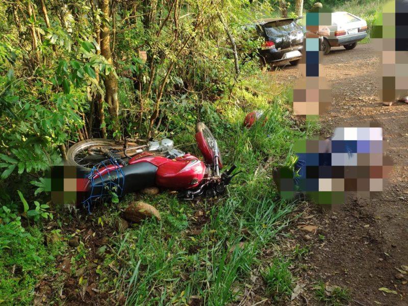 Acidente de trânsito foi registrado na tarde deste sábado (18) – Foto: Corpo de Bombeiros/ND
