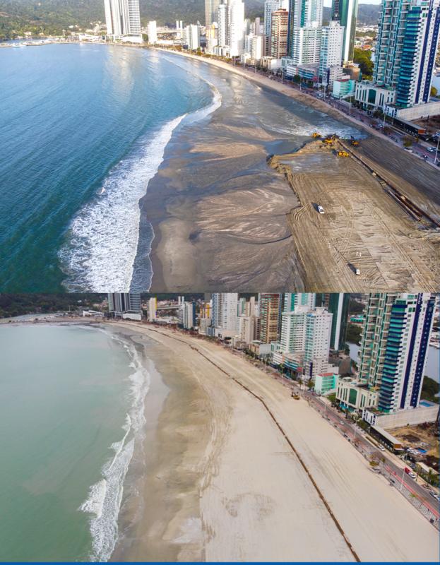 Mudança na orla da praia Central de Balneário Camboriú é surpreendente – Foto: Secom BC/Divulgação