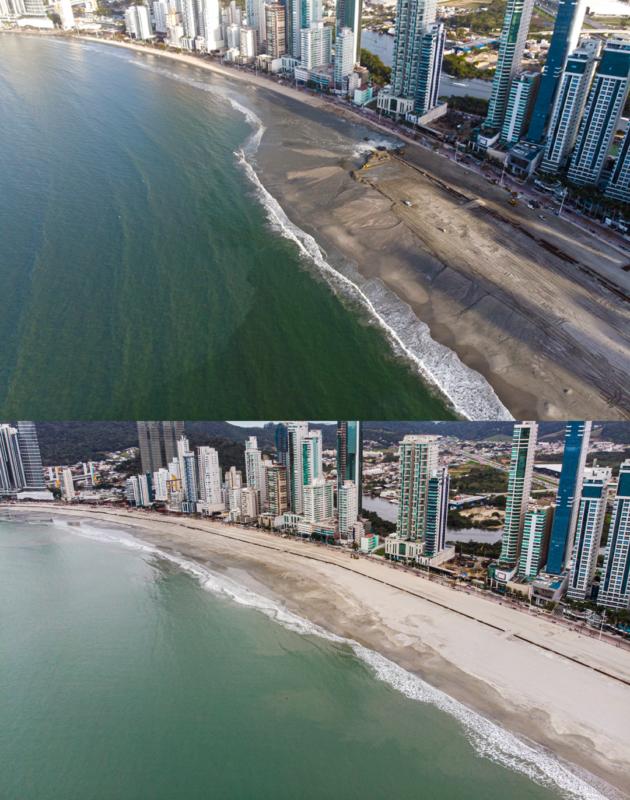 Praia de Balneário Camboriú agora é conhecida como a Copacabana catarinense – Foto: Secom BC/Divulgação