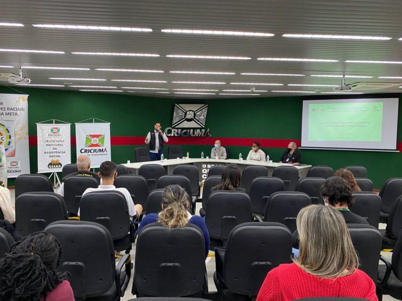 Tema delicado nas abordagens que promovem a assistência social, o respeito racial é trabalhado por técnicos do município de Criciúma. – Foto: Divulgação