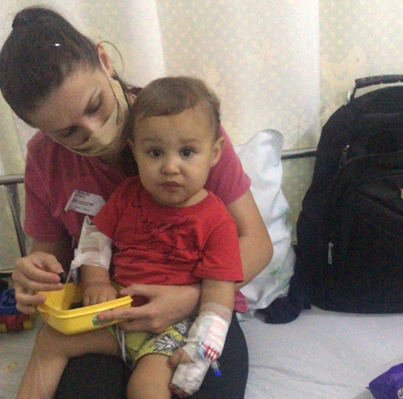 Após três dias hospitalizado, a família tem expectativa de que a criança receba alta nesta quarta-feira 15) – Foto: Arquivo Pessoal/Paulo Henrique de Almeida Machado/ND