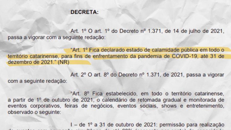 """Recorte do decreto publicado no """"Diário Oficial"""" – Arte: Altair Magagnin/ND"""