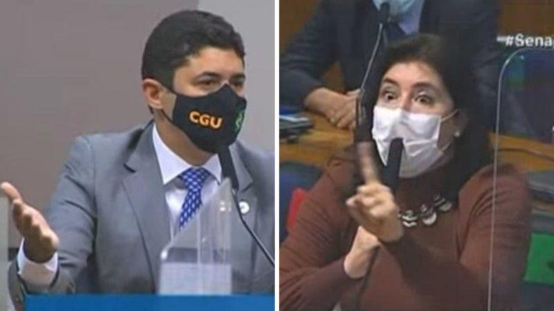 Ministro da CGU, Wagner do Rosário, e senadora Simone Tebet – Foto: Reprodução/ND
