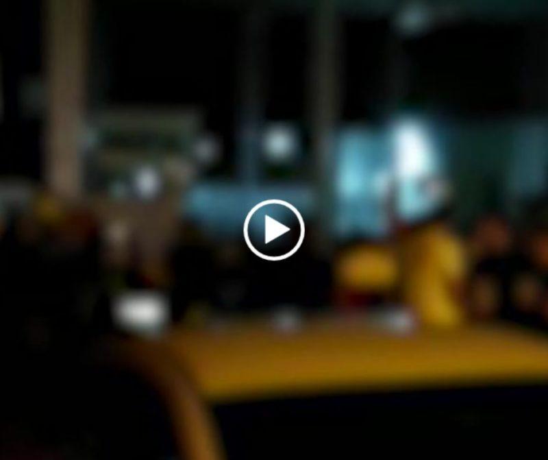 Vídeos feitos por moradores mostram verdadeira balada ao ar livre em Itajaí – Foto: Reprodução/ND