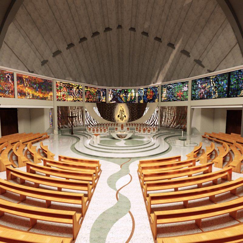 Revitalização quer transformar parte interna da Catedral de Joinville. – Foto: Imagem: Divulgação Internet