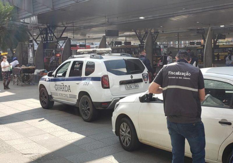 fiscalização no terminal central de Joinville