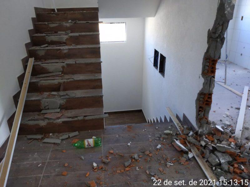 Demolição foi feita através da Prefeitura Municipal de Florianópolis – Foto: PMF/Divulgação/ND