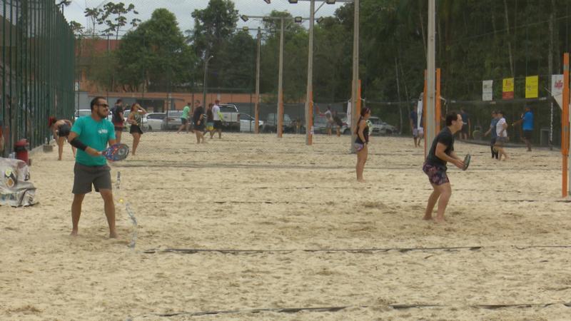 1ª Copa NDTV de Beach Tennis agitou o domingo em Joinville – Foto: Adriano Mendes/NDTV