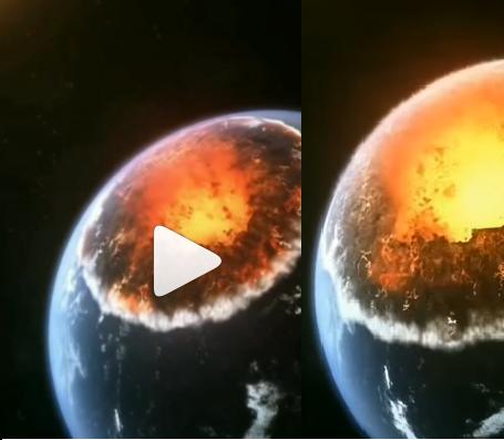 Destruição da terra simulada