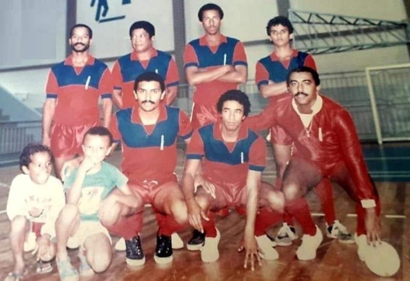 Equipe de futsal do DNER. Time de boleiros da Grande Florianópolis. – Foto: Acervo Jorge Lima/ND