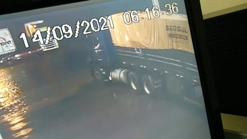 Caminhoneiro esteve no posto na manhã desta terça-feira (14). – Foto: Reprodução/Posto Coopercarga Idaza/ND