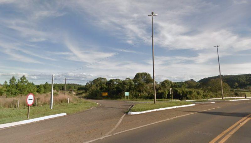 Acidente aconteceu na SC-350, em Aurora – Foto: Reprodução/Google Maps/ND