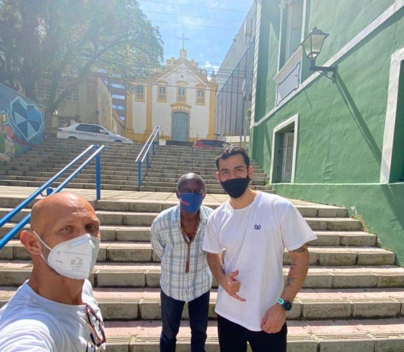 Guia manezinho, JB Costa e Gustavo Zinder – Foto: divulgação/ Guia manézinho