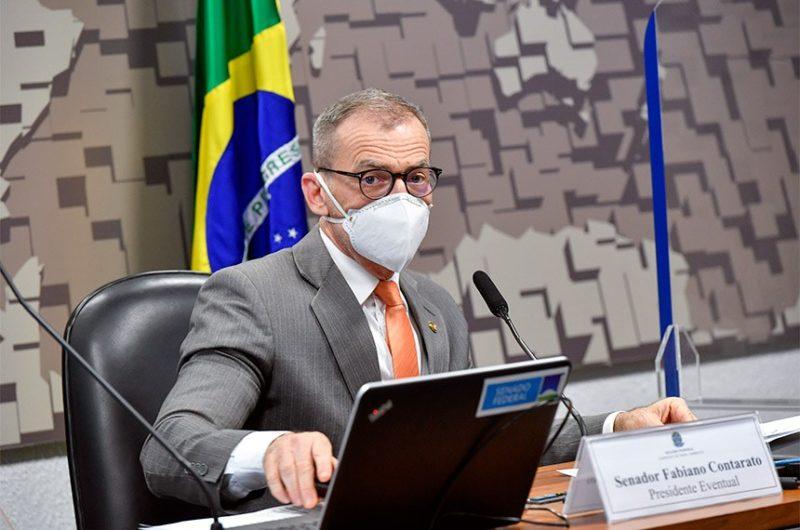 O debate foi presidido pelo senador Fabiano Contarato (REDE-ES) – Foto: imagem_matLeopoldo Silva/Agência Senado/Divulgação/ND
