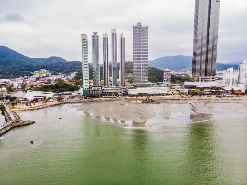Barra Sul volta a ter praia com a obra de alargamento de Balneário Camboriú – Foto: Secom BC/Divulgação
