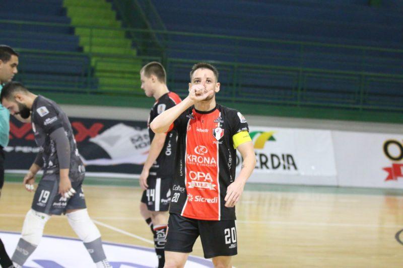 JEC Futsal é soberano, goleia o Concórdia e mantém invencibilidade no Campeonato Catarinense – Foto: Juliano Schmidt/JEC Futsal/Divulgação/ND