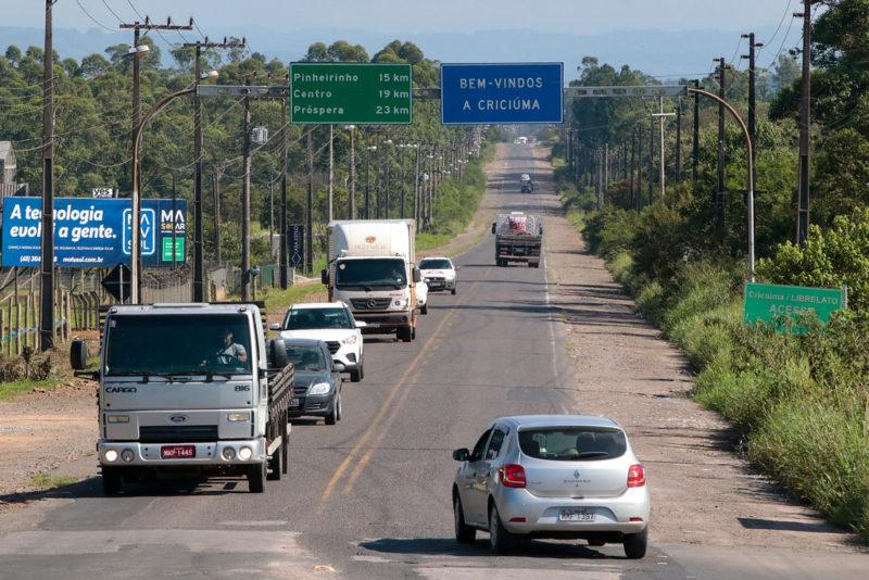 A rodovia em revitalização liga Criciúma à BR-101. – Foto: Divulgação