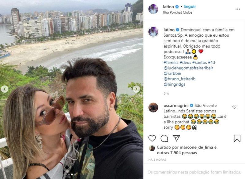 Cantor acabou cometendo gafe nas redes sociais – Foto: Reprodução/Instagram
