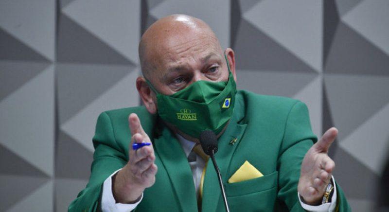 Empresário catarinense Luciano Hang prestou depoimento na CPI da Covid nesta quarta (29) – Foto: Leopoldo Silva / Agência Senado